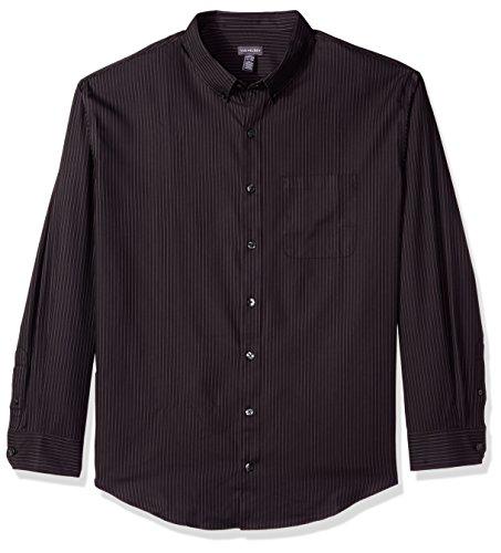 Van Heusen Men's Big and Tall Traveler Stretch Non Iron Long Sleeve Shirt, Black, 2X-Large Tall