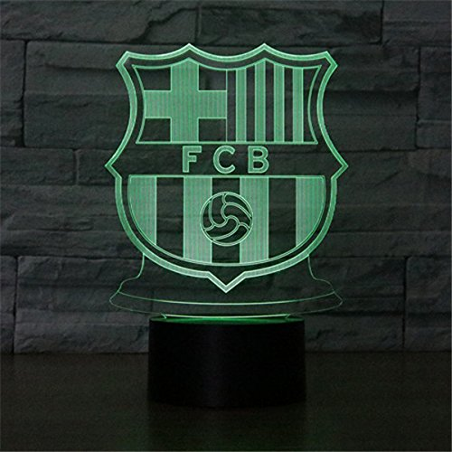 The 3D Light Series Home Decor Night Lamp For Kids Bed Room, Party Atmosphere. Can Output 7Colors Remote Control Nightlight Base Can Attach Diffierent 3D Display Borard (Display Board-FC Barcelona)