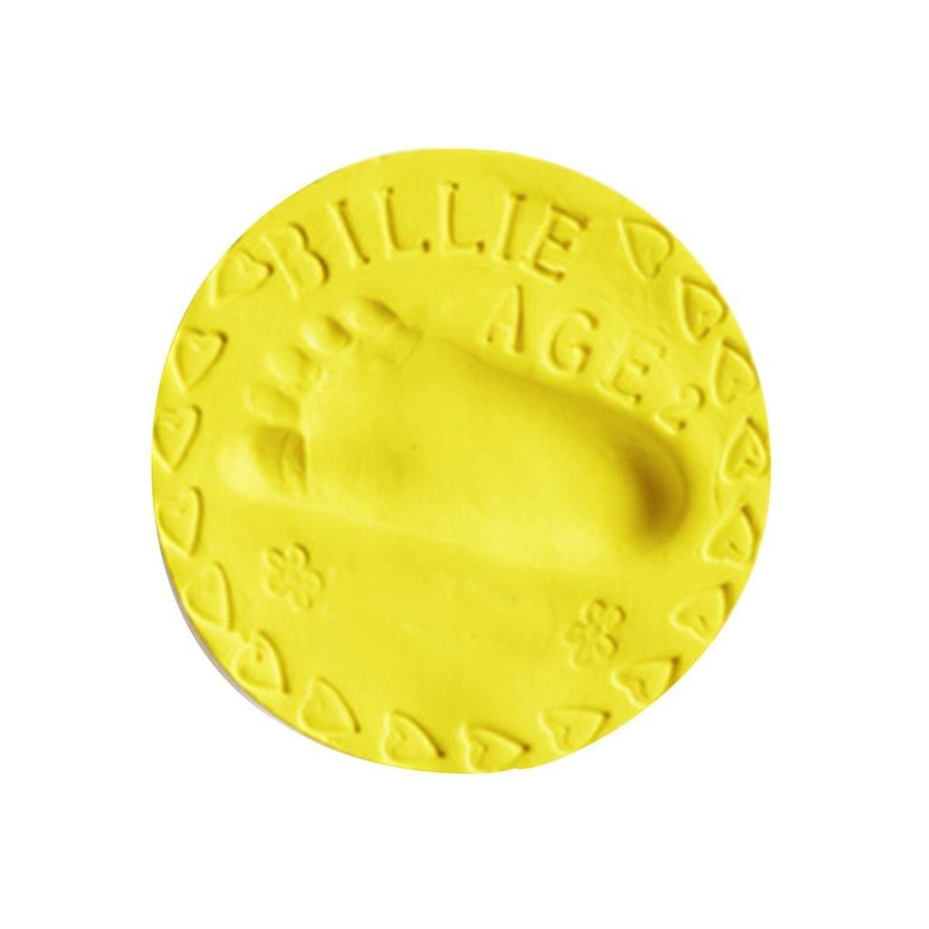 Vibola Babyprints Newborn Baby Handprint and Footprint Air Drying Soft Clay (Yellow-40g)