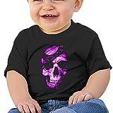 Sfjgbfjs Baby T-Shirt Fashion Cool Purple Skull Soft and Cozy Infant T-Shirt