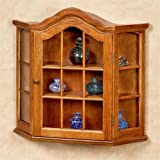 Touch of Class Andre Wall Curio Cabinet Honey Oak
