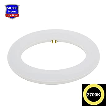 8 Inch, 10 W T9 bombilla LED luz blanca cálida 2700 K, Sustitución Fluorescente