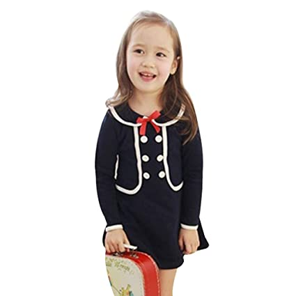 f86e9e4a1c3 succeedtop Clothes for Toddler Kids Baby Girl Long Sleeve Bow Princess Dress  Hoodies Sweatshirt Clothes Outfits