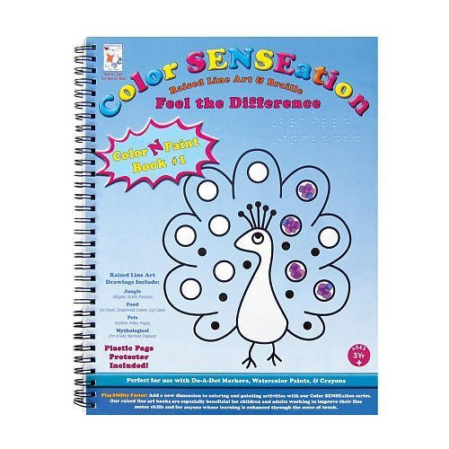 Raised Line and Braille Color-N-Paint Art Book-1