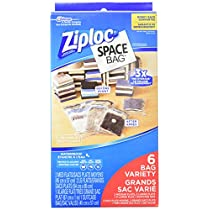 Ziploc Space Bag Combo, Flat and Travel, 6-Count