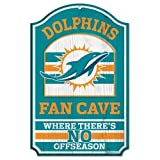 Miami Dolphins Wood Sign - 11''x17'' Fan Cave Design