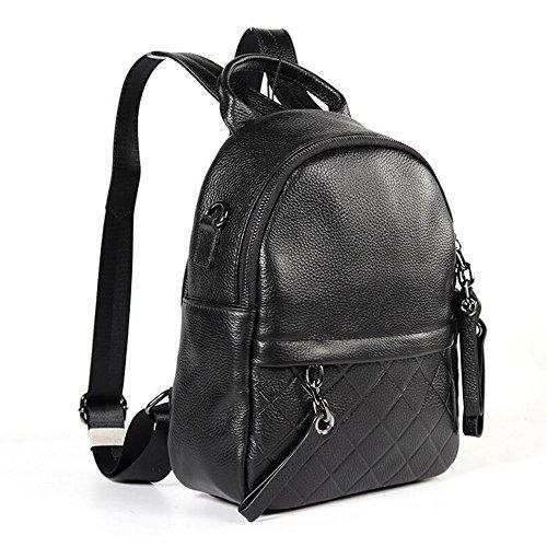 sac Casual dos en à épaule de Noir Street école de qualité Voyage dos sac noir WENMW main de portable poitrine à capacité Sac haute Multi occasion grande à Sac cuir tEwxaZzq