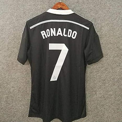 sports shoes 2f767 b1cba Amazon.com : Retro Ronaldo#7 Real Madrid Black Dragon Soccer ...