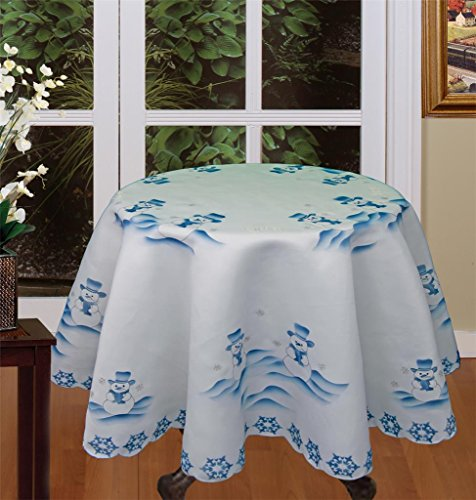 day Christmas Snowman Tablecloth 70
