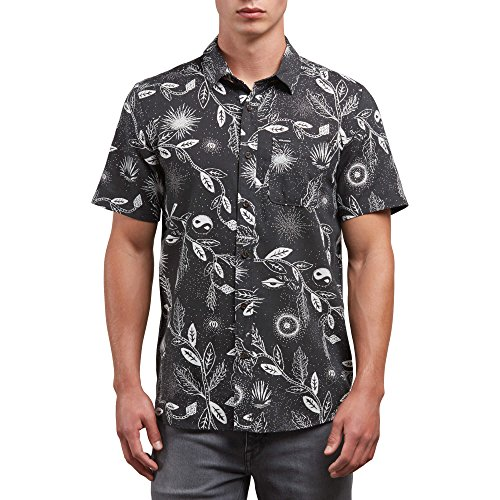 Shirt Street Hawaiian (Volcom Men's Broha Short Sleeve Button up Hawaiian Shirt)