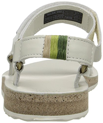 Teva W Original Universal Crafted Leather, Sandalias para Mujer blanco