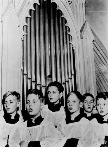 (1964 Members of the Vienna Choir Boys, half-length portrait, facing left, sin g4)