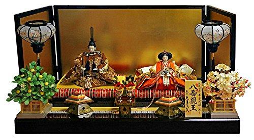 雛人形 久月 ひな人形 雛 平飾り 親王飾り 平安弌峰作 帯地 八番親王 h313-k-k3839   B01NBOCFFR