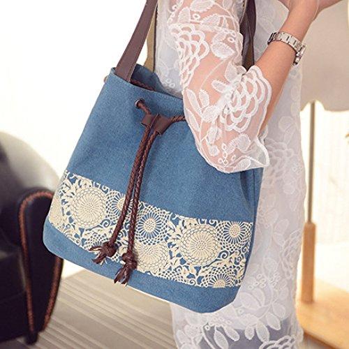 Bolso Negro mujer xiaohu Negro 30×29×12CM al para Azul hombro ZSwddxqCP