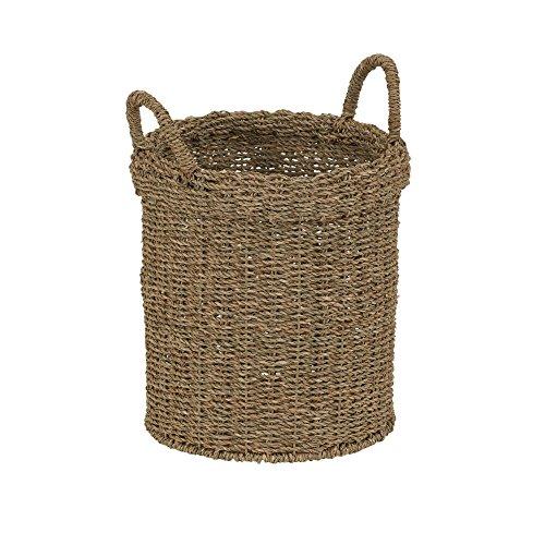 Household Essentials Round Straight Side Seagrass Brown