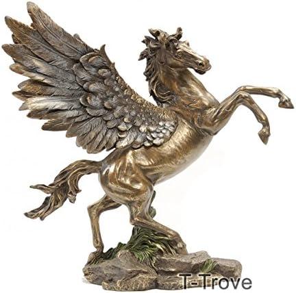 T-Trove Cold Cast Bronze Pegasus Statue Figurine