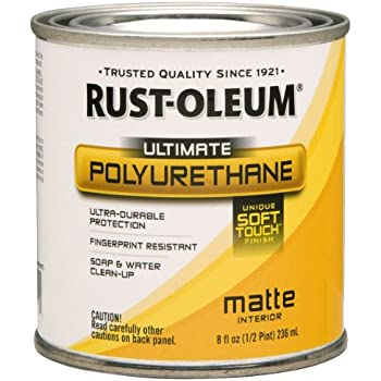 Rust Oleum 260165 Soft Touch Polyurethane Quart Matte Home Improvement