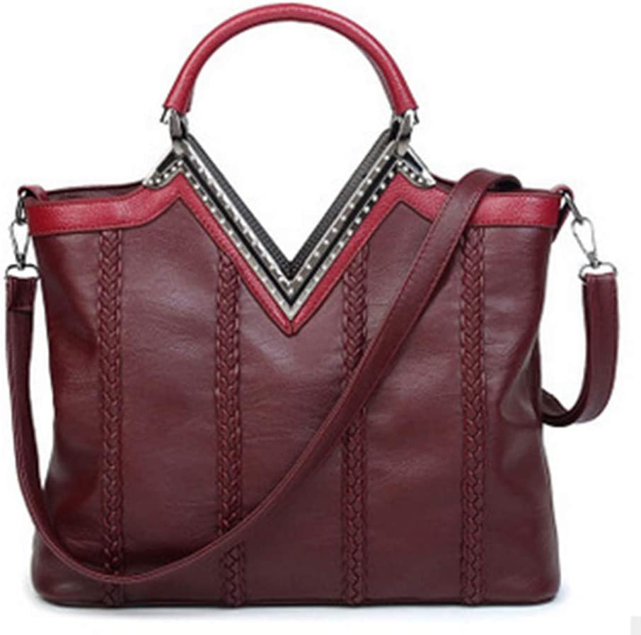 pu Leather Crossbody Bag Dating,Red ALTINOVO Handbag Womens Simple Retro Practical Suitable for Work Multi-Function Large-Capacity Shoulder Bag