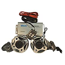 """Shark 250w motorcycle audio system W ' new 3"""" speakers"""