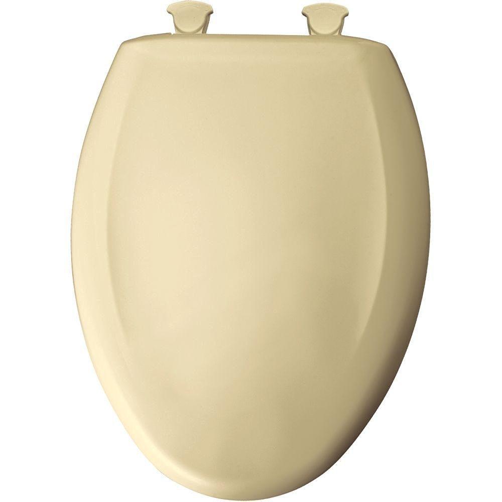 Bemis 1200SLOWT 006 Slow Close Sta-Tite Elongated Closed Front Toilet Seat, Bone
