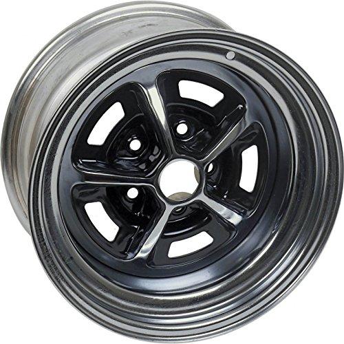 (MACs Auto Parts 41-52915 Wheel - Magnum 500 - Chrome With Black Center - 14 X 7)