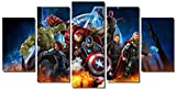 Picture Sensations Framed Canvas Art Print, Marvel Avengers Age of ultron Super Hero Wall Canvas Art - 60''x32''