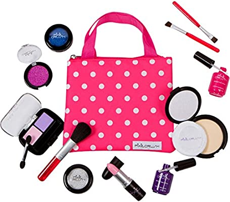419392a55325 PixieCrush Pretend Play Makeup Kit. Designer Girls Beauty Basics 12 Piece Polka  Dot Handbag Set ...