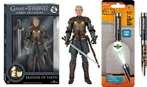 Super Hero Game of Thrones Series 2- Brienne of Tarth Action Figure & Free Star Wars Projector Pen, Colors may vary Toys