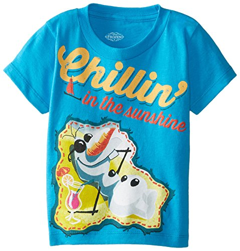 Disney Boys' Frozen Olaf Chillin In The Sunshine T-Shirt