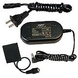 HQRP AC Adapter Kit for Canon PowerShot SX400 IS, SX410 IS, IXUS 125 HS, IXUS 240 HS, IXY 220F, IXY 420F Digital Camera + HQRP Euro Plug Adapter