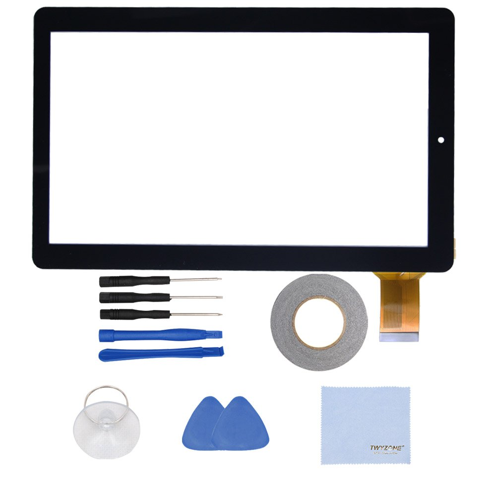 TWYZONE New Replacment Touch Screen/Panel Digitizer Glass (no Lcd Display Screen) for RCA PRO10 Edition RCT6203W46 10'' Tablet PC