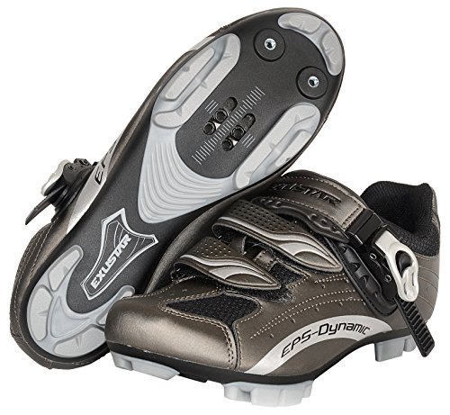 Exustar E-SM306 MTB Shoe, Grey, Size 46 by Exustar