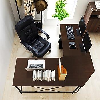 """Soges 59"""" x 59"""" Large L-shaped Desk Computer Desk L Desk Office Desk Workstation Desk, Black CS-ZJ02-BK"""