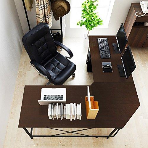 Soges 59'' x 59'' Large L-shaped Desk Computer Desk L Desk Office Desk Workstation Desk, Black CS-ZJ02-BK by soges