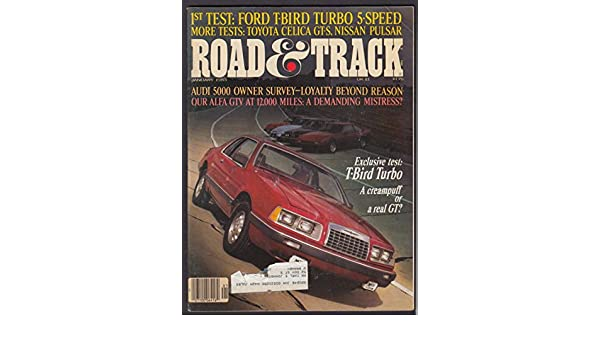 ROAD & TRACK Ford T-Bird Turbo Audi 5000 Alfa GTV Toyota Celica Nissan + 1 1983 at Amazons Entertainment Collectibles Store