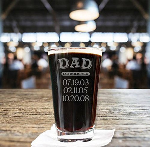 Rch gifts online in the uae abu dhabi dubai sharjah and northern personalized dad established pint beer glassengraved 16 oz dad established glasses dads negle Gallery