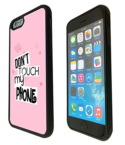 1208 - Pink Multi Love Heart Don'T Touch My Phone Design iphone 6 6S 4.7'' Fashion Trend Protecteur Coque Gel Rubber Silicone protection Case Coque - Noir