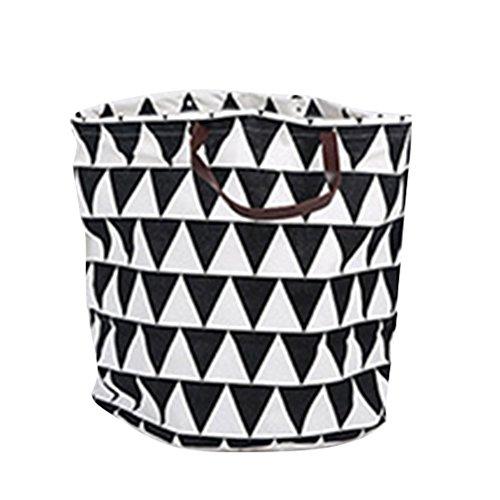 Oudan Bolsa de almacenamiento de lona Bolsa de cesta con asas para niños Juguetes Ropa de bebé Libros (Color : Blanco, tamaño : Un tamaño) Negro