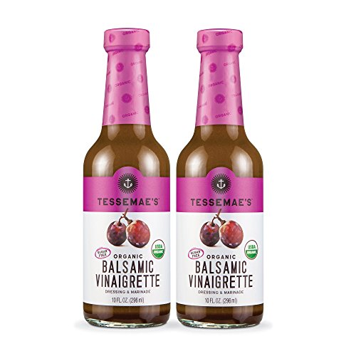 Tessemae's All Natural Salad Dressing 2-Pack (Organic Balsamic) (The Best Salad Dressing Ever)