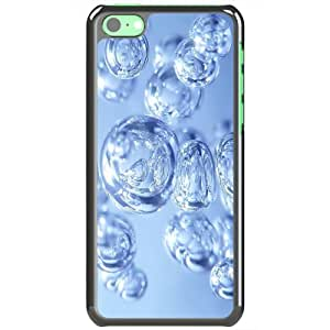 Apple iPhone 5C Cases Customized Gifts Of 3D Graphics Water Bubbles 3d D Black