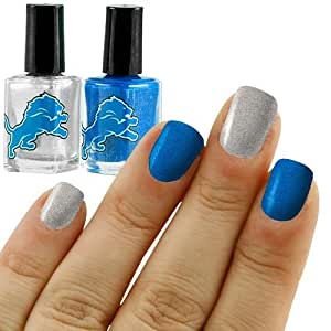 NFL Detroit Lions Two-Pack Team Colored Nail Polish