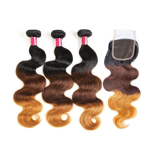 Allove Hair 8a Ombre Brazilian Virgin Hair Body Wave Bundles With