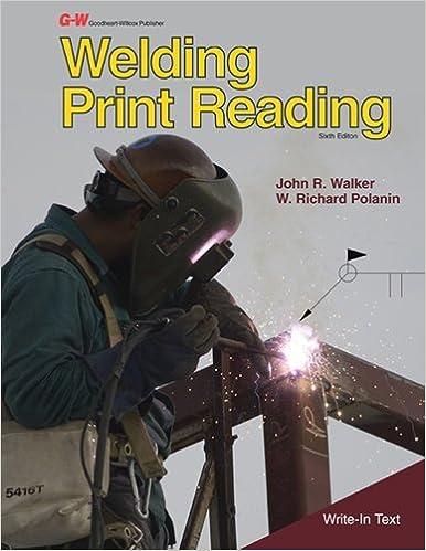 Book Welding Print Reading by Walker John R. Polanin W. Richard (2012-04-27)
