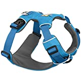 RUFFWEAR All Day Adventure Dog Harness, Miniature Breeds, Adjustable Fit, Size: XX-Small, Blue Dusk, Front Range Harness, 30501-407S2