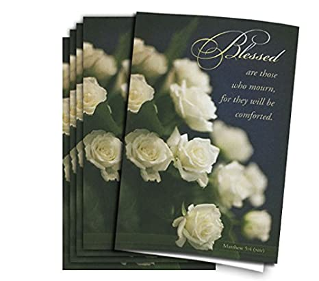 amazon com blessed funeral program paper pkg of 25 office products