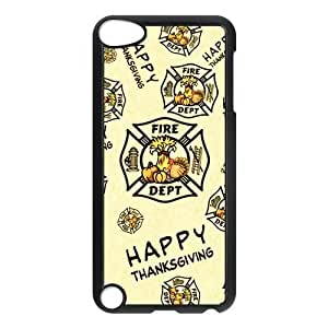 Special Designer Happy Thanksgiving Orange Ipod Touch 5th Case, Snap on Protective Thanksgiving Ipod 5 Case