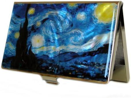 Perlmutt Design Visitenkartenetui Van Gogh Blau Business Card Edel