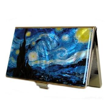 Perlmutt Design Visitenkartenetui Van Gogh Blau Business