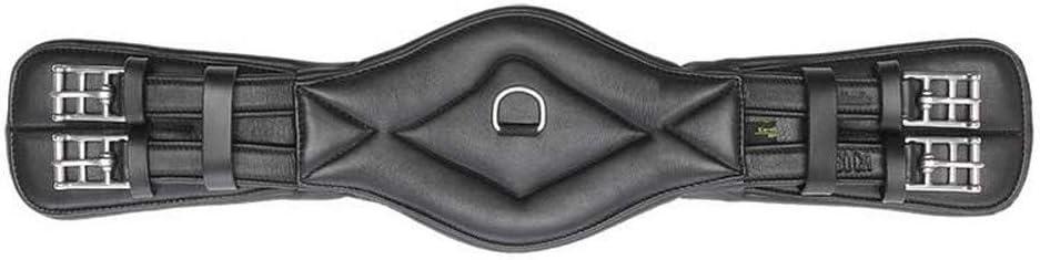 Kavalkade Soft Comfort - Cinturón Corto de Piel para Doma (sin enganches), Color Negro