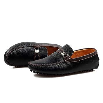 Shufang-shoes, Zapatos Mocasines para Hombre 2018 Conducir Zapatos Casuales de Barco Zapatos Holgazanes para Hombres (Color : Negro, tamaño : 41 EU): ...
